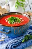 Vegetable cream soup — Stock Photo