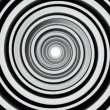 Black and white hypnotic spiral — Stock Video