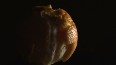 Planet earth made of orange, dark — Stockvideo