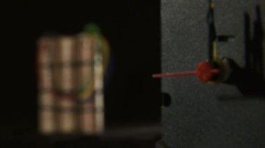 Time bomb - Explosive clockwork — Stock Video