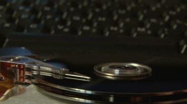 Festplatte, tastatur. — Stockvideo