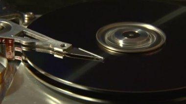 Festplatte, nähe. — Stockvideo