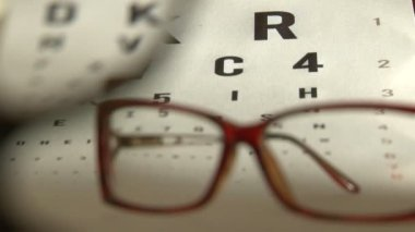 Eye test and eyeglasses — Stock Video