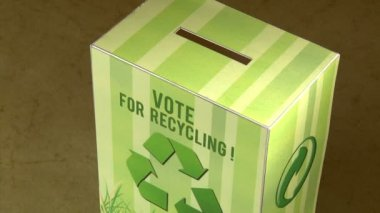Vote for recycle. — Stock video