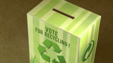 Vote for recycle. — Stockvideo
