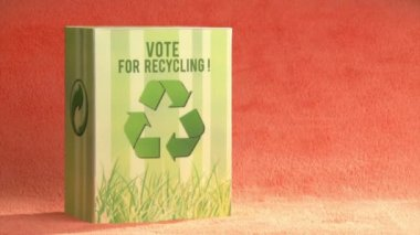 Vote for recycle. Ecology. — Stock Video