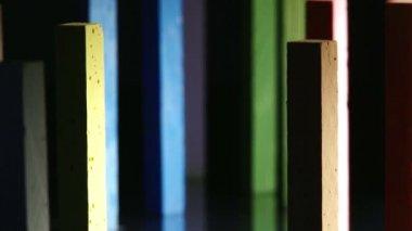 Giz, vertical colorido, — Vídeo Stock
