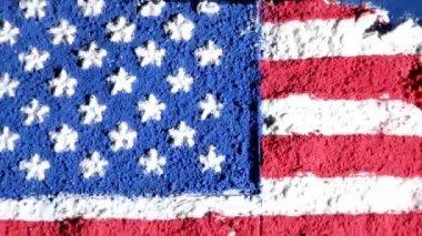 Nosotros mapa y bandera, trabajo de arte — Vídeo de stock