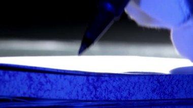 Lápis, closeup — Vídeo stock