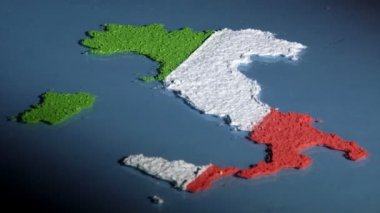 Italy map and flag — Stock Video