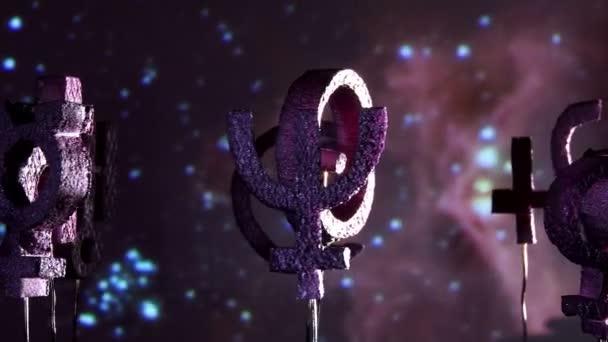 Espace de planètes, pourpre de l'astrologie — Vidéo