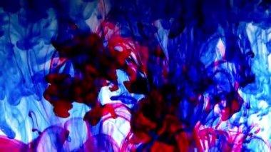 Farben - tinte, rot blau gelb grün — Stockvideo