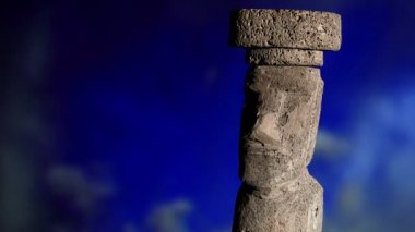 Rapa Nui, sky, zoom — Stockvideo