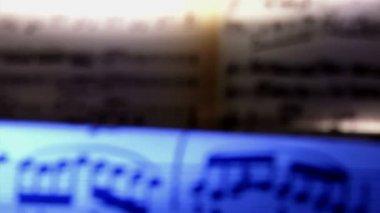 Partituras, notas, azules — Vídeo de Stock