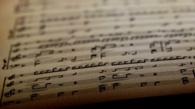Sheet music, notes. — Stock Video
