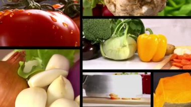Food Composition, Vegetable — Stock Video