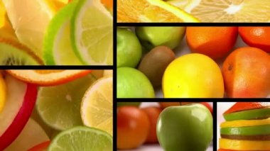 Food Composition, Fruits — Stock Video