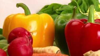 Vegetables, close up — Stock Video