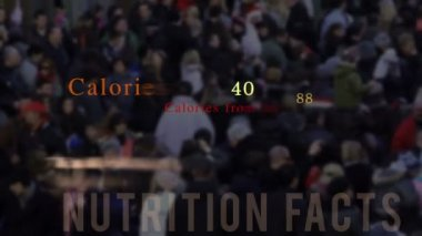 Nutrition facts, animation — Stock Video