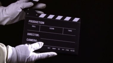 Clapperboard, sequence — Stock Video