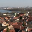 Stock Video: Belgrade, Zemun, Danube river
