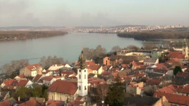 Belgrade, Zemun, Danube — Stock Video