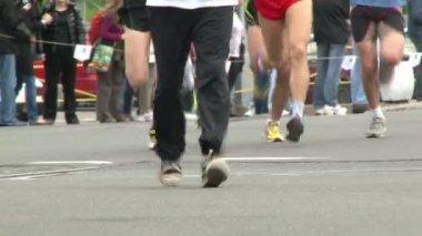 Marathon, legs — Stock Video