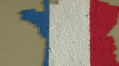 France map and flag — Stock Video