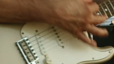 Electric guitar, live — Stock Video