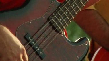 Bass guitar — Stock Video