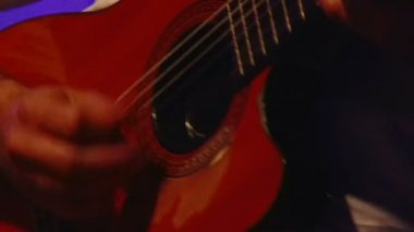 Acoustic guitar — Stock Video
