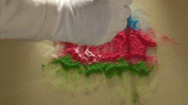 アゼルバイジャンの地図 - アーティスト — ストックビデオ