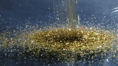 Gold dust — Stock Video