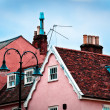 Roof tops of cottages of rural suffolk, England, UK — Stock Photo
