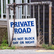 Stock Photo: Private road