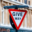 Stock Photo: Give way Sign