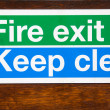 Sign for Fire Exit keep clear — Foto de stock #12736654