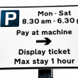 Stock Photo: Parking Meter Pay & Display Sign