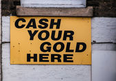 Emerging Shops in recession Cash your Gold — Stockfoto