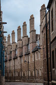 Chimneys in a side street in Cambridge England UK — Stock Photo