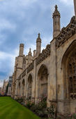 Arched exterior windows of King's College England UK — Stock Photo