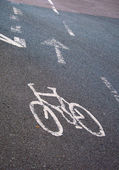 Road markings for Cyclist lane — Stock Photo
