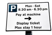 Parking Meter Pay & Display Sign — Stock Photo