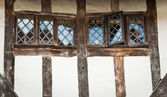 Window of Timber cottage of Lavenham, England, Suffolk, UK — Stock Photo