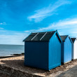 Bright Beach Huts at Felixstowe, Suffolk, England, UK — Stock Photo #26477703