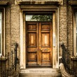 Arched door from Cambridg, United kingdom — Stock Photo