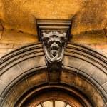 Arched eneterance door of cambridge University, UK — Stock Photo #26481277