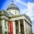 National Gallery of Art, Trafalgar Square, London — Stock Photo