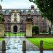 Stock Photo: One of the enterances of cambridge university, england UK