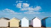 Beach Huts at Felixstowe, Suffolk, UK. — Stock Photo